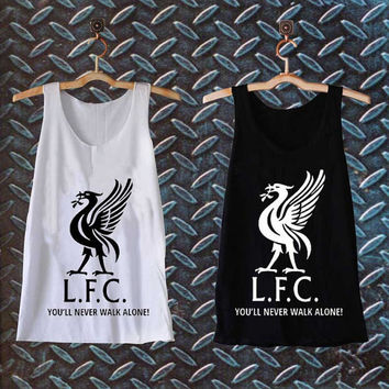 Liverpool Fc logo ynwa best customized design for Tank top Mens and Tank top Girls , sizes S - XXL