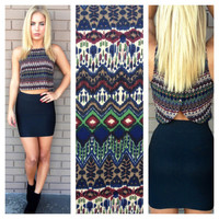 Fall Into Color Crop Top