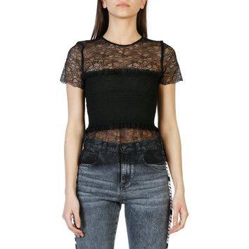 Pinko- Short Sleeve Lace Top