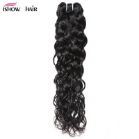 Ishow Water Wave Human Hair Bundles Brazilian Hair Weave Bundles Can Buy 3 Or 4 Bundles Hair extensions 1Pc Non Remy Hair