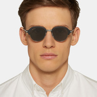 Gucci - Round-Frame Metal and Acetate Sunglasses | MR PORTER