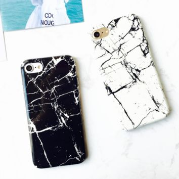 Black & White Marble Pattern  Iphone 7 7Plus &6 6S Plus Cover Case