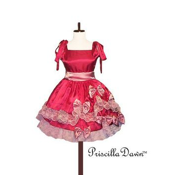 Custom in Your Size Pink Trimmed Alice Party by priscilladawn