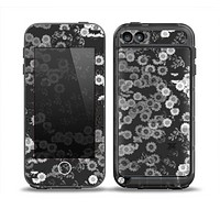 The Small Black and White Flower Sprouts Skin for the iPod Touch 5th Generation frē LifeProof Case