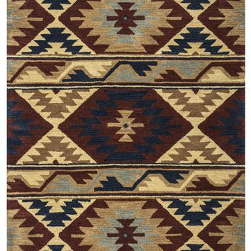 Rizzy Home Southwest SU2253 Multi-Colored Southwest/Tribal Area Rug