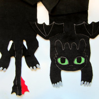 Toothless from How to Train Your Dragon Cosplay or Everyday Scarf