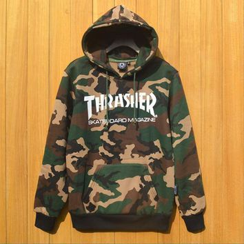 Thrasher Camouflage Cotton Hoodie Sweater M Xxl