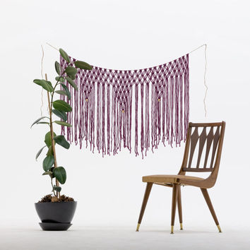 Purple Macrame Hanging.  Made to Order