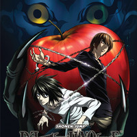 Death Note Ryuk, Light, L & Apple Wall Scroll