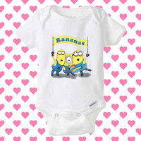 Minion Despicable me Bananas baby Onesuit, shirt baby Onesuit, baby Onesuit clothing