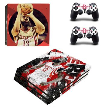 Houston Rockets: Vinyl Skin Decal for Sony PlayStation 4 PS4 Console and 2 Controllers