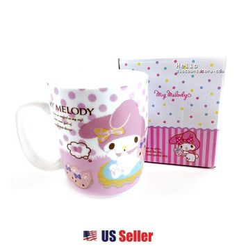 Sanrio My Melody Ceramic Mug Cup with Box : White $12.99