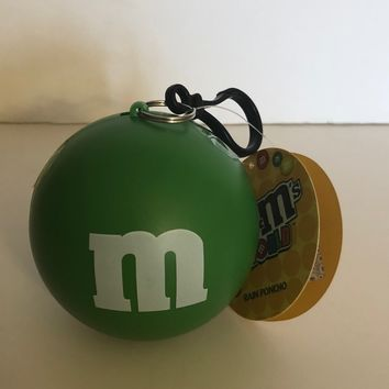 M&M's Green Character Rain Poncho Ball One Size New with Tags