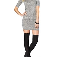 Space Dye Ribbed Sweater Dress