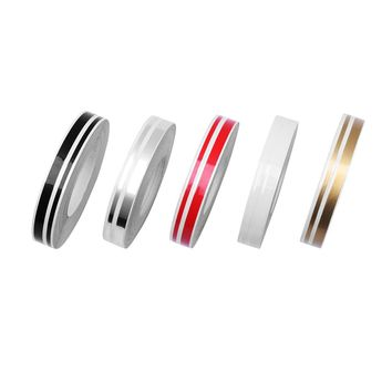 2018 New Fashion 5 Colors 4mm/2mm 9800mm Stripe Pin Stripe Tape Streamline Decals Stickers For Car Styling Double Line Tape
