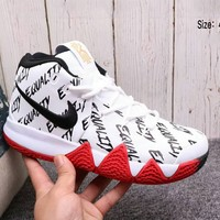 Nike Kyrie 4 new fashion men's wear combat basketball boots F-A36H-MY white