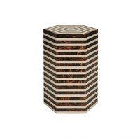 Worlds Away Axel Side Table