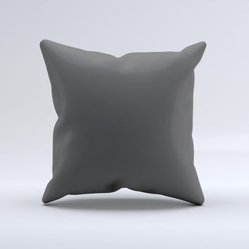 Solid Dark Gray  Ink-Fuzed Decorative Throw Pillow