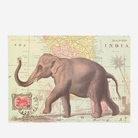 Elephant Map Poster