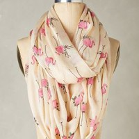 Flamingo Infinity Scarf by Anthropologie in Pink Size: One Size Scarves