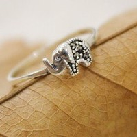 BlueBand — Sterling Silver Lovely Elephant Ring