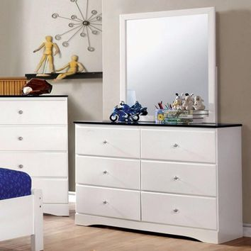 Kimmel Elegant Dresser With Storage Space, White And Blue