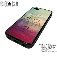 Regret The Chances Life Quote Inspiratoinal Apple iPhone Case Cover Skin Design 4 4S 5 5S 5C S4 SIV