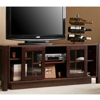 Espresso TV Stand Accommodates Flat Screen TV's up to 50-inches