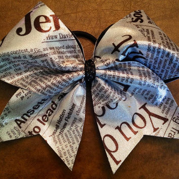 Cheer Bow - Newsprint