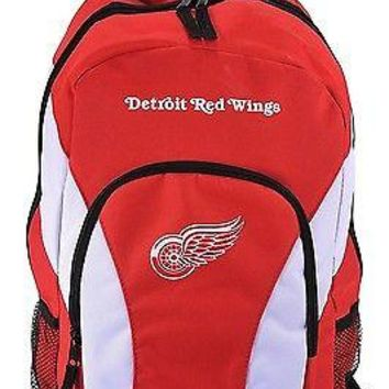 NHL Detroit Red Wings DraftDay Backpack, 18-Inch, Red