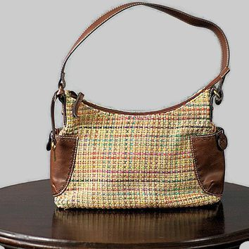 Retro Basket Weave Fossil Bag Modern Preowned, Just In
