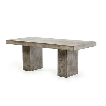 Modern Dark Grey Concrete Dining Table