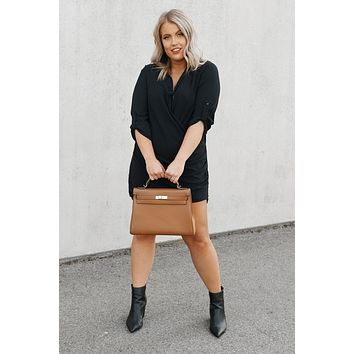 Up Your Game Tunic Dress (Black)