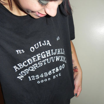 Custom Hand Painted Ouija Board shirt
