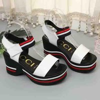 GUCCI New fashion sandals for women high top shoe