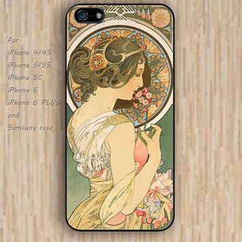 iPhone 5s 6 case watercolor Ancient paintings women colorful phone case iphone case,ipod case,samsung galaxy case available plastic rubber case waterproof B513