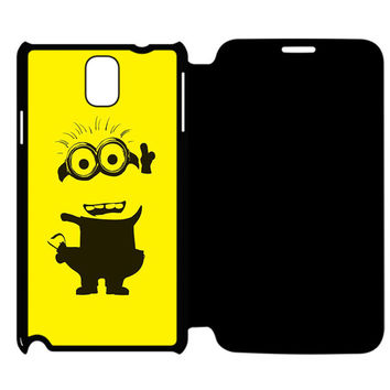 Yellow Minion Samsung Galaxy Note 4 Flip Case Cover