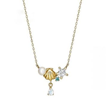 Mermaid Pearl Shell Necklace