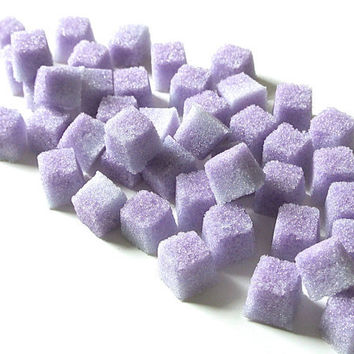 Lavender Flavored Sugar Cubes for Tea Parties, Champagne Toasts, Favors, Coffee, Tea, Berries, Lemonade