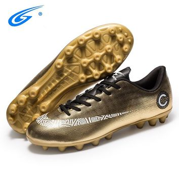 ZHENZU Professional Men Women Soccer Shoes FG & HG Soles Sneakers Outdoor Football Boots Athletic Soccer Cleats voetbalschoenen