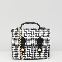 ASOS DESIGN mini check satchel bag at asos.com