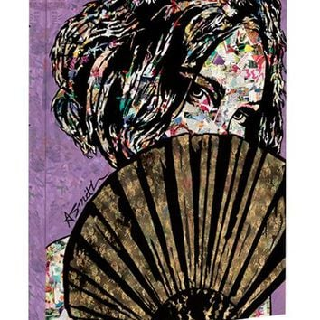 Urban art print on canvas Playing Coy Collage Canvas Wall Art 18x24 by Amy Smith