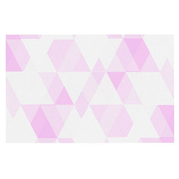 "CarolLynn Tice ""Aspire"" Geometric Pink Decorative Door Mat"