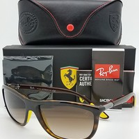 NEW Rayban Ferrari sunglasses RB8351M F60913 SCUDERIA Brown Gradient AUTHENTIC
