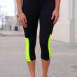 Too Fit to Quit Workout Capris - Neon Yellow