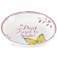 "LENOX Butterfly Meadow Celebrations 5.5"" Don't Forget to Smile Dish"