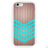 Arrow Teal Wood Iphone Cases For iPhone 6 / 6 Plus Case