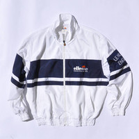 RARE Vintage Ellesse Wind Up Tennis Jacket Multi Colour