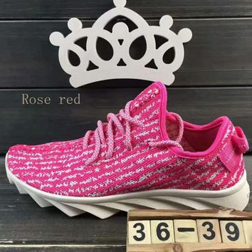 """""""ADIDAS""""Fashion running Classic coconut shoes mesh couples sports shoes Rose red"""