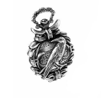 Alchemy Gothic Nevermore Raven Fob Watch Crow Edgar Alan Poe